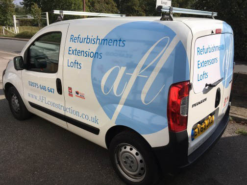 AFL Construction London Van